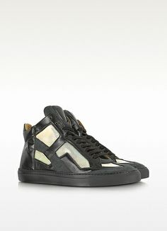 MM6 Maison Martin Margiela Techno Fabric Black High-top Sneaker