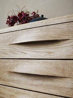 wood drawer detail: