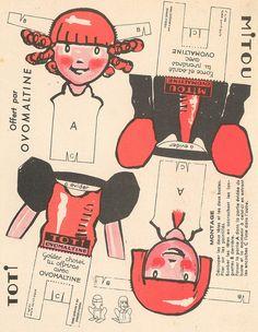 Mitoutoti Vintage Put Together Paper Doll