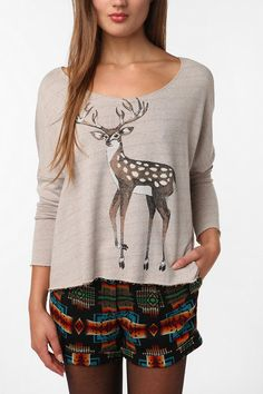 deer and shorts