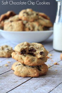 Soft Chocolate Chip Cookie Recipe #chocolatechip #cookierecipe #dessert