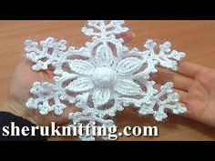 Snowflake Ornament Crochet Tutorial 8 Part 1 of 2 6-Petal Flower Center