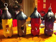 More bird houses from soda bottles