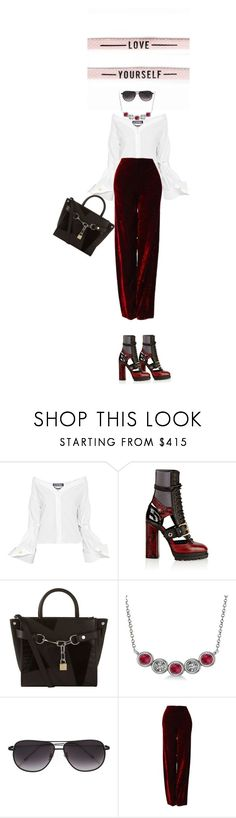"""""""Work day"""" by drigomes ❤ liked on Polyvore featuring Jacquemus, Burberry, Alexander Wang, Allurez, Frency & Mercury and Versace"""
