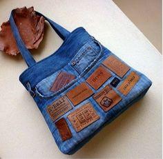 Luty Artes Crochet: Pura criatividades na arte do jeans, achei na web.