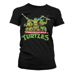 Hybris Teenage Mutant Ninja Turtles - Group distressed dames T-shirt z