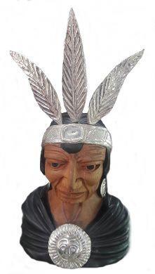 Handgeschnitzt #Peru #Inka #Figur Zedernholz 950er Silber Inka, Peru, Buddha, Statue, Accessories, Cedar Wood, Embellishments, Wood Carvings, Arts And Crafts