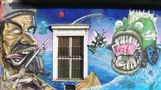 Street Art in Barrio Brasil, Santiago de Chile