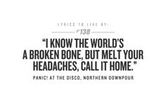 northern downpour panic at the disco