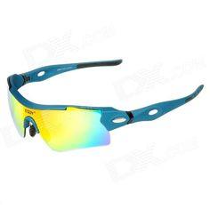 ESDY 0095AC Outdoor Sports UV Protection PC Frame Lens Sunglasses w/ Replacing Lens - Blue Price: $20.30