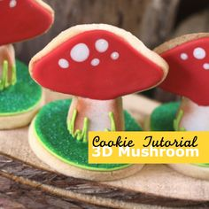 Cute: How to make a 3D woodland mushroom cookie (Montreal Confections).