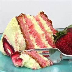 Strawberry Lemonade Cake...looks delish for summer!