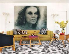 Diane Von Furstenburg   Fashion Icon   NYC Penthouse   Celebrity Style   Star Homes   Living Rooms   Interior Design