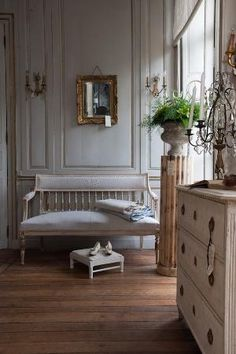 Chalky paneling by dawn