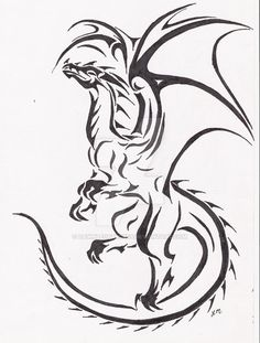 fancy dragon tattoo - Google Search