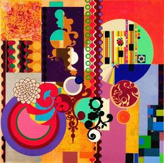 BEATRIZ MILHAZES  Mulatinho, 2008  Acrylic on canvas  97 5/8 X 97 5/8 inches