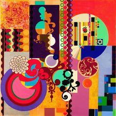 Mulatinho.  Beatriz Milhazes.  Enlazado de http://www.jamescohan.com/artists/beatriz-milhazes/selected-works/