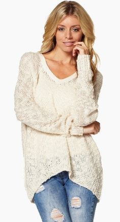 Oversized Sweater in Cream