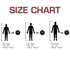 Size chart gym ball