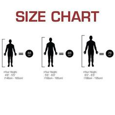 Size chart gym ball