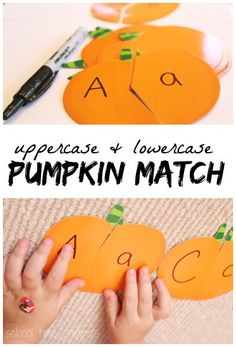 Uppercase and Lowercase Alphabet Pumpkin Puzzles | School Time Snippets