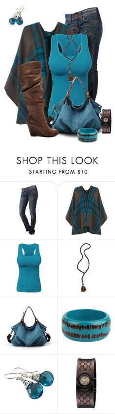Mystical Blue by jacci0528 on Polyvore featuring Warehouse, Fornarina, Jessica Simpson, Gucci and Hipchik