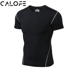7a9c62e474 CALOFE Men Sportswear Fitness Running T shirts Quick Dry Yoga Training Tops  Basketball Compression Shirt Short Sleeve Jersey Z30-in Running T-Shirts  from ...