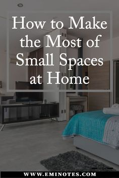 Ideas on how to make the most of small spaces and fit a lot in one place with great arranging skills Apartment Must Haves, One Room Apartment, First Apartment, Apartment Design, Small House Decorating, Decorating Tips, Tiny Spaces, Small Apartments, Small Places