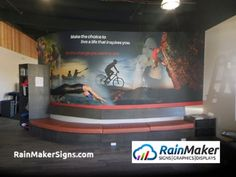 We specialize in fitness center murals. Wall Murals, Signage, Branding, Graphics, Gym, Interior, Fitness, Inspiration, Wallpaper Murals