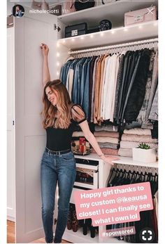 Closet organization ideas/ ikea closets/ small closet inspiration Closet organization ideas/ ikea closets/ small closet inspiration Pin: 736 x 1309