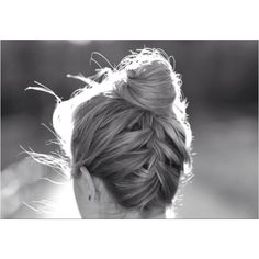 upside down french braid bun