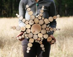 Aufgearbeiteten Holz Mond Skulptur Hochzeit Dekor umgewidmet