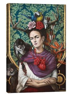 Hommage a Frida (a Tribute to Frida) by Sophie Wilkins (Canvas)