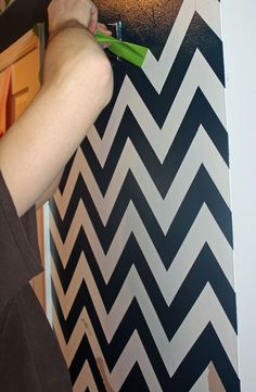 Painted Chevron Striped Wall With Detailed Tutorial