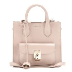 Balenciaga - Padlock Mini All Afternoon leather tote - Swap your Balenciaga 'Padlock' bag for this mini version without losing any functional appeal. The saccharine rose-pink colour is delightfully feminine when paired next to white. Depending on how you wear it, it will take you from day to night . seen @ www.mytheresa.com