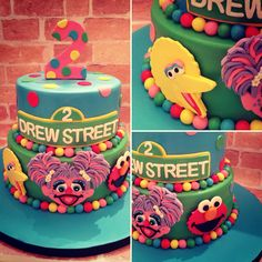 Sesame Street themed cake for a 2yr old birthday girl. I loved making this, lots of fun colors!
