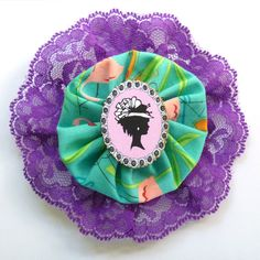 Pinup Cameo Fascinator with Lace Pink Purple & by missrockabilly, $22.00