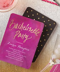 Bachelorette Party Itinerary Chevron  Chalkboard DoubleSided