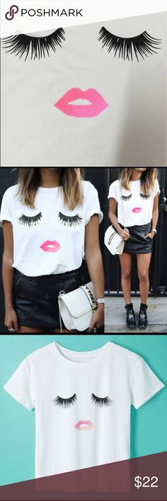 Just In!! Eyelashes and lips Hot Tee has arrived! NWT