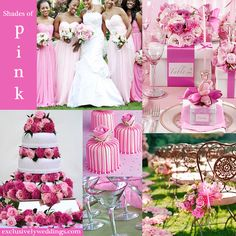 Shades of Pink Wedding Colors | #exclusivelyweddings | All of our color stories can be found here: http://pinterest.com/exclusivelywed/wedding-color-stories/