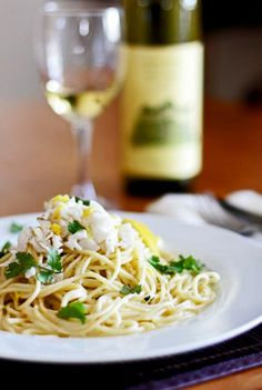 Lump Crab Pasta with Meyer Lemon and Chive Butter Sauce
