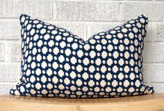 Schumacher Pillow Cover Betwixt pillow cover Navy cream by TanisT