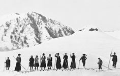 Early Residents On Skis, Ketchum Ski And Sun, Mountain High, Vintage Ski, Sun Valley, Idaho, All Over The World, Skiing, Snow, Poses