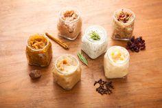 Use ordinary kitchen ingredients to make these sugar lip scrubs.