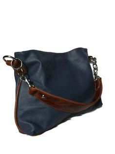 7bf50f5cc495 Genuine ultramarine blue leather hobo purse shoulder bag handbag handmade  blue on Etsy