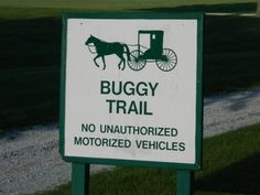 buggy sign, photo taken by Vannetta Chapman