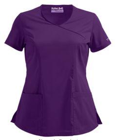 UA Butter-Soft STRETCH Scrubs V-Neck Mock Wrap Top Be ready to take on the day with our new v-neck mock wrap! Style # BSS929 #uniformadvantage #uascrubs #adayinscrubs #effplant #purple #scrubs #buttersoftscrubs #comfortscrubs #fashionscrubs #nurse #nursingscrubs