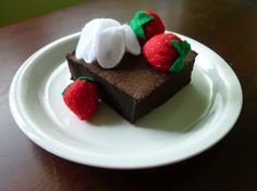 Brownie Delight - Felt Play Food. $16.00, via Etsy.