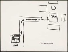 A conceptual work in which the artist had a person draw a map leading to the Dam Platz in...