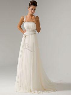 Satin Fine-netting Square Sheath/ Column New Arrival Wedding Dresses  $138.99